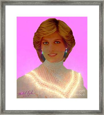 Princess Diana Framed Print by Michael Rucker