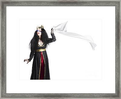 Princess In Distress Framed Print