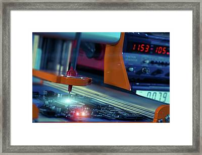 Printed Circuit Board Framed Print by Wladimir Bulgar