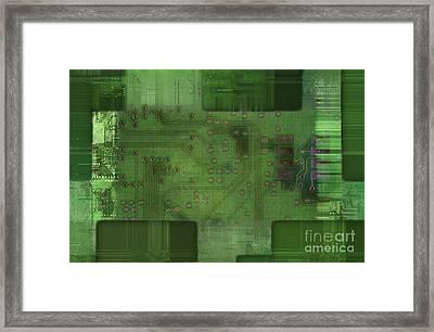 Printed Circuit - Motherboard Framed Print by Michal Boubin