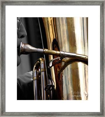 Profile In Tuba Framed Print by Steven Digman
