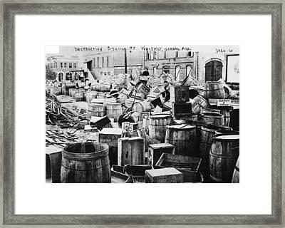 Prohibition, 1920s Framed Print