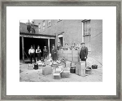 Prohibition Raid Framed Print