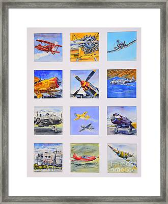 Prop Planes Framed Print by Betsy Aguirre