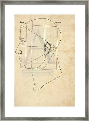 Proportions Of The Human Face Framed Print