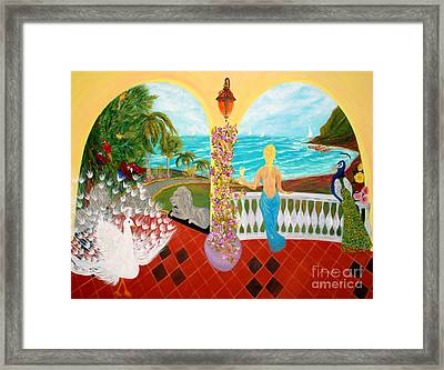 Framed Print featuring the painting Prosperity. Inspirations Collection. by Oksana Semenchenko