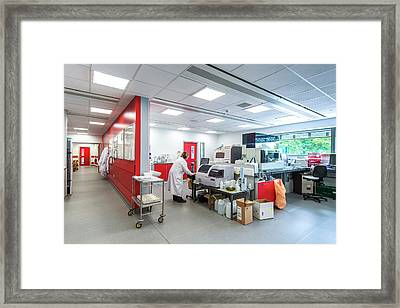 Protein Research Laboratory Framed Print by Dan Dunkley
