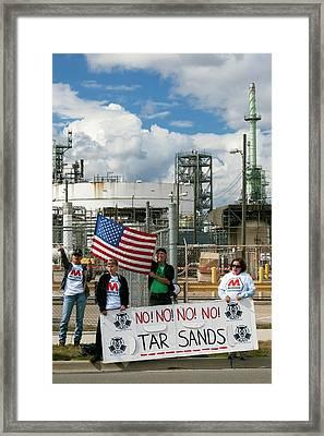 Protest Against Tar Sands Framed Print