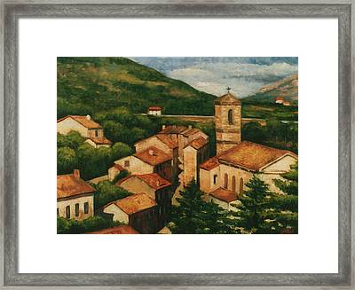 Provence Rooftops Framed Print by Colleen Gallo
