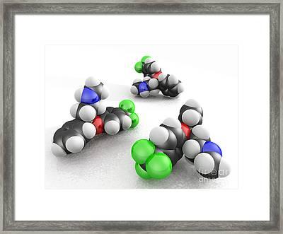 Prozac Molecules Framed Print by Phantatomix