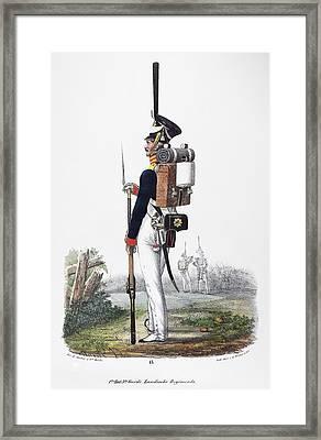 Prussian Soldier, 1830 Framed Print by Granger