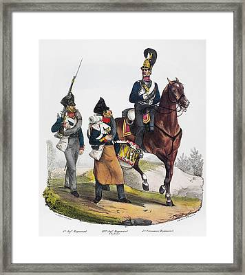Prussian Soldiers, 1830 Framed Print by Granger