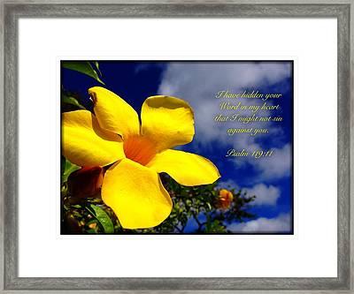 Psalm 119 11 Framed Print