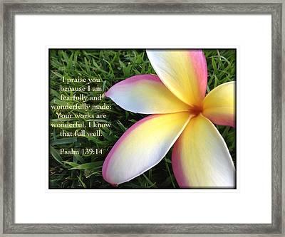 Psalm 139 14 Framed Print