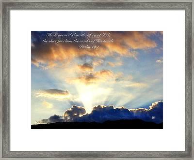 Psalm 19 1 Framed Print
