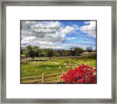 Psalm 23 1 Framed Print