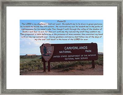 Psalm 23 Canyonlands N P Framed Print