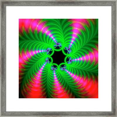 Psychedelic Patterns Framed Print by Mehau Kulyk