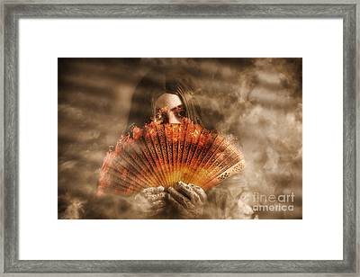 Psychic Clairvoyant Holding Mystery And Magic Fan Framed Print by Jorgo Photography - Wall Art Gallery
