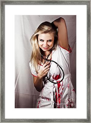 Psychotic Killer Nurse Framed Print by Jorgo Photography - Wall Art Gallery