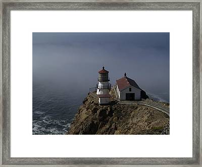Pt Reyes Lighthouse Framed Print by Bill Gallagher