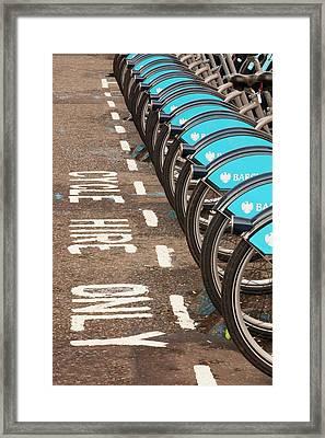 Public Bike Hire Scheme Framed Print