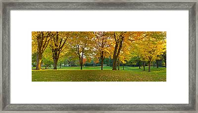 Public Park In Autumn Colors, Gresham Framed Print by Panoramic Images