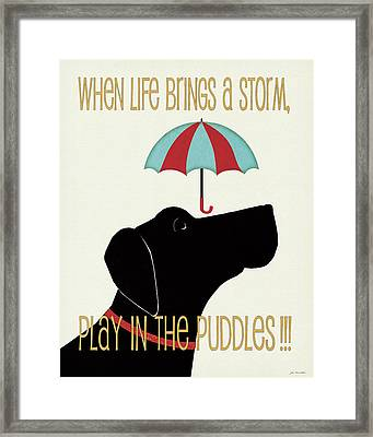 Puddles Framed Print by Jo Moulton