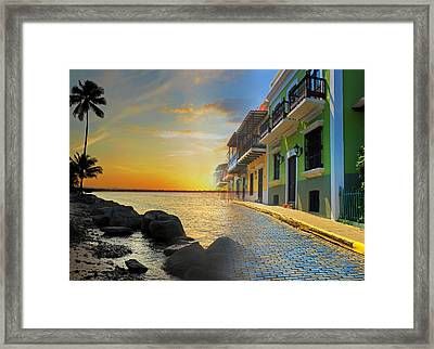 Puerto Rico Collage 4 Framed Print by Stephen Anderson