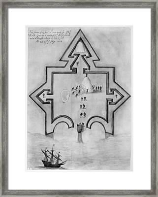 Puerto Rico: Fort, 1585 Framed Print by Granger