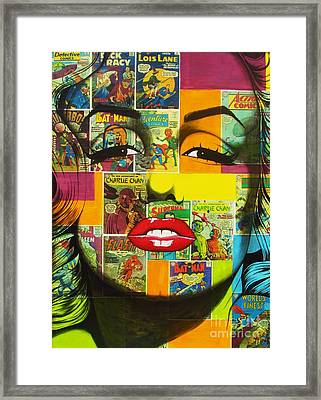 Pulp Marilyn Framed Print by Joseph Sonday