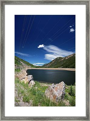 Pumped Storage Hydroelectric Project Framed Print by Jim West