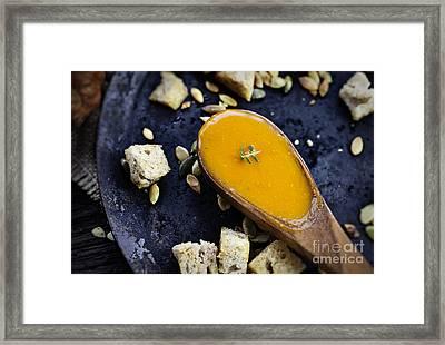 Pumpkin Soup Framed Print by Mythja  Photography