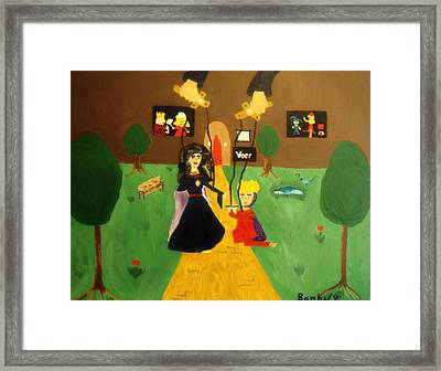 Puppets Framed Print by Bamhs Blair