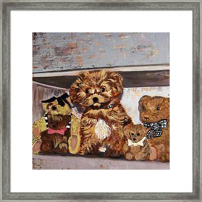 Puppy And Bears Framed Print