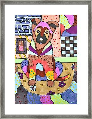 Puppy Love Framed Print by Raela K
