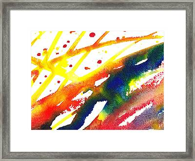 Pure Color Inspiration Abstract Painting Parallel Perception Framed Print by Irina Sztukowski
