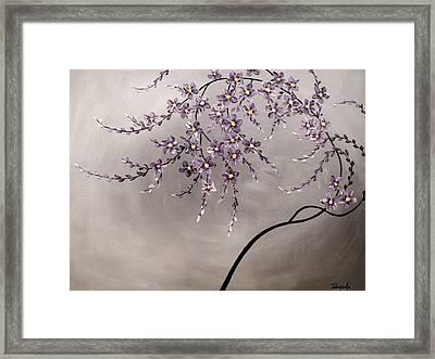 Purple Blossoms  Framed Print by Tomoko Koyama