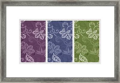 Purple Blue Green Framed Print by Aged Pixel