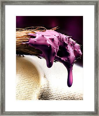 Purple Drip Framed Print by Camille Lopez