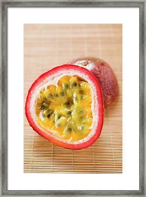 Purple Granadilla (passion Fruit), Halved Framed Print