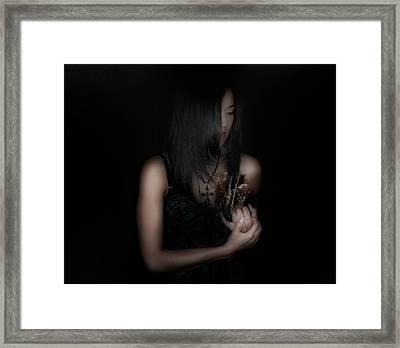 push Me away Framed Print by David Fox