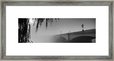 Putney Bridge During Fog, Thames River Framed Print by Panoramic Images
