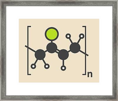 Pvc Plastic Polymer Molecule Framed Print