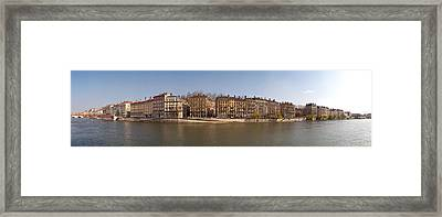 Quai Du Marechal Joffre Along The Saone Framed Print by Panoramic Images