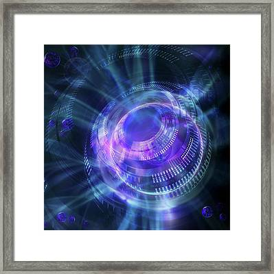 Quantum Computer Framed Print by Harald Ritsch