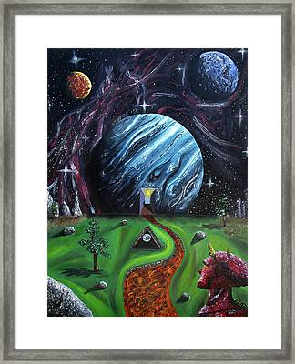 Framed Print featuring the painting Quantum Dementia by Ryan Demaree