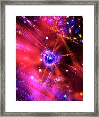 Quantum Particles Framed Print by Richard Kail