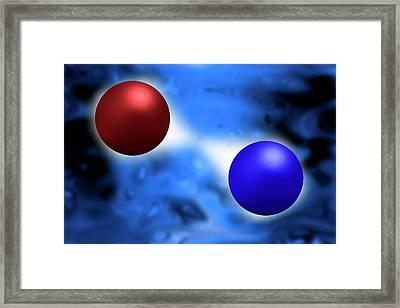 Quantum Vacuum Fluctuations Framed Print by Victor De Schwanberg