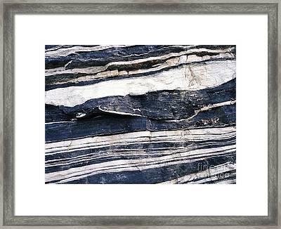 Quartz And Schist Outcrops Framed Print